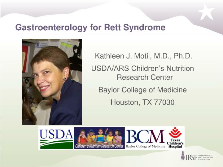 Gastroenterology for rett syndrome