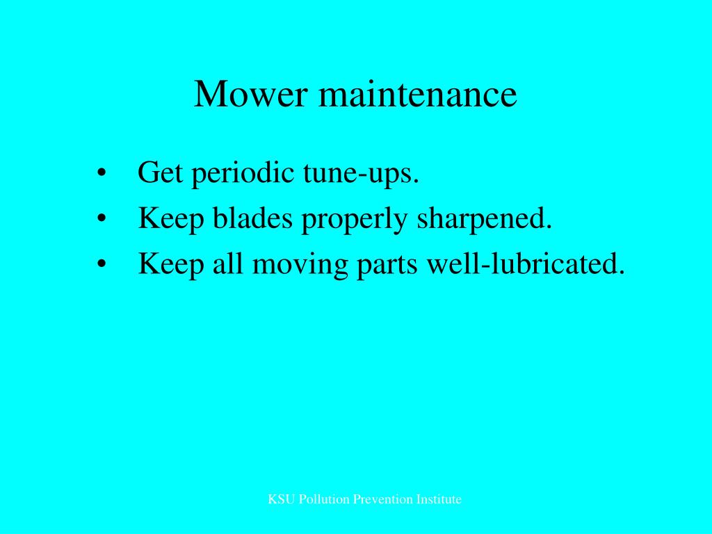 Mower maintenance