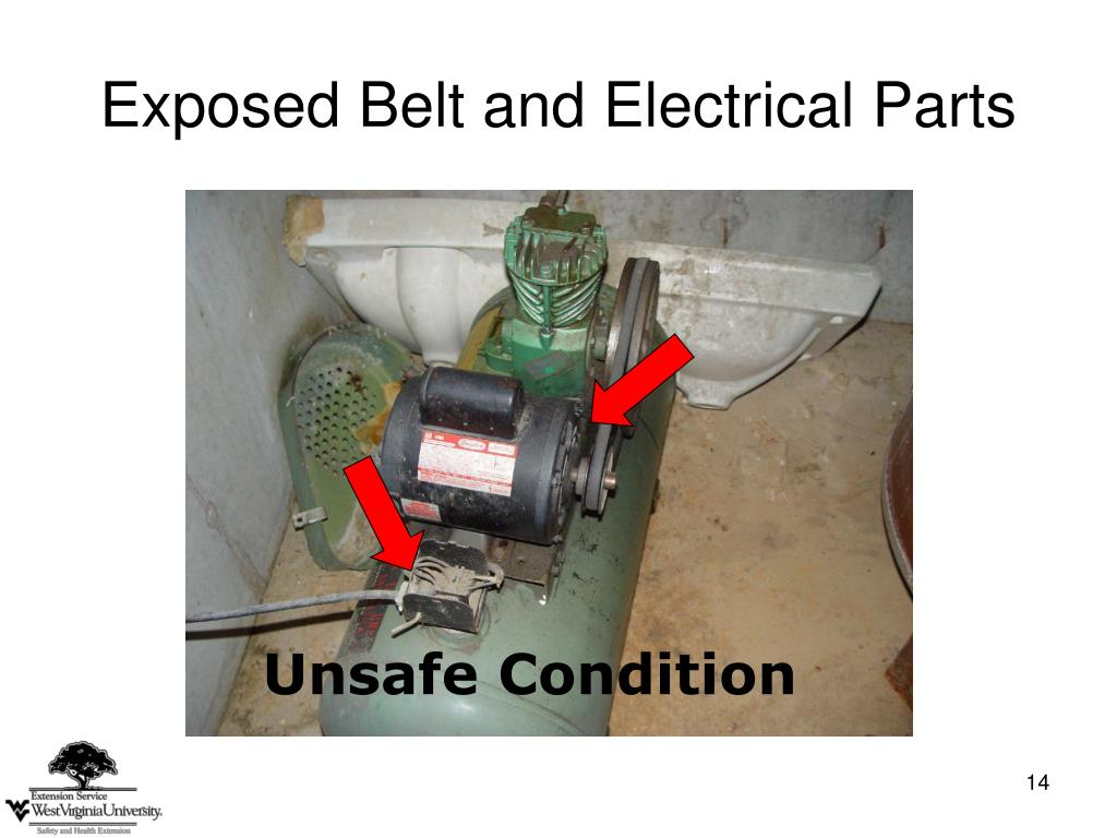 Exposed Belt and Electrical Parts