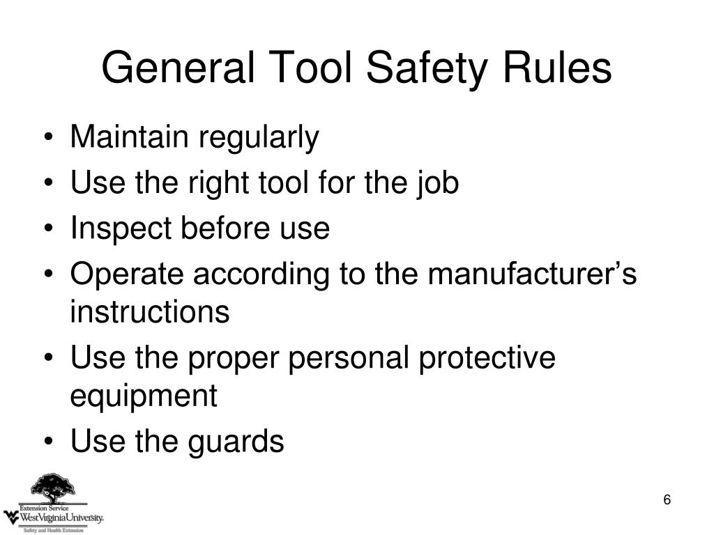 General Tool Safety Rules
