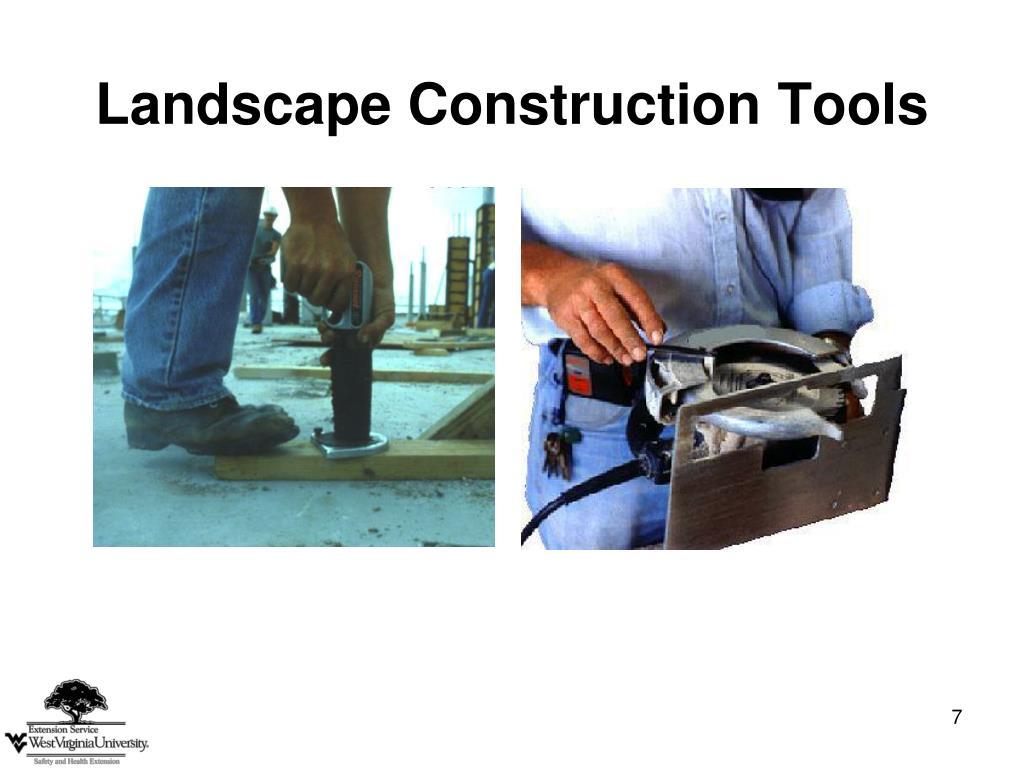 Landscape Construction Tools