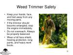 weed trimmer safety