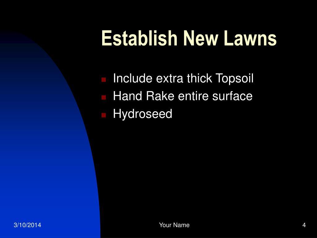 Establish New Lawns