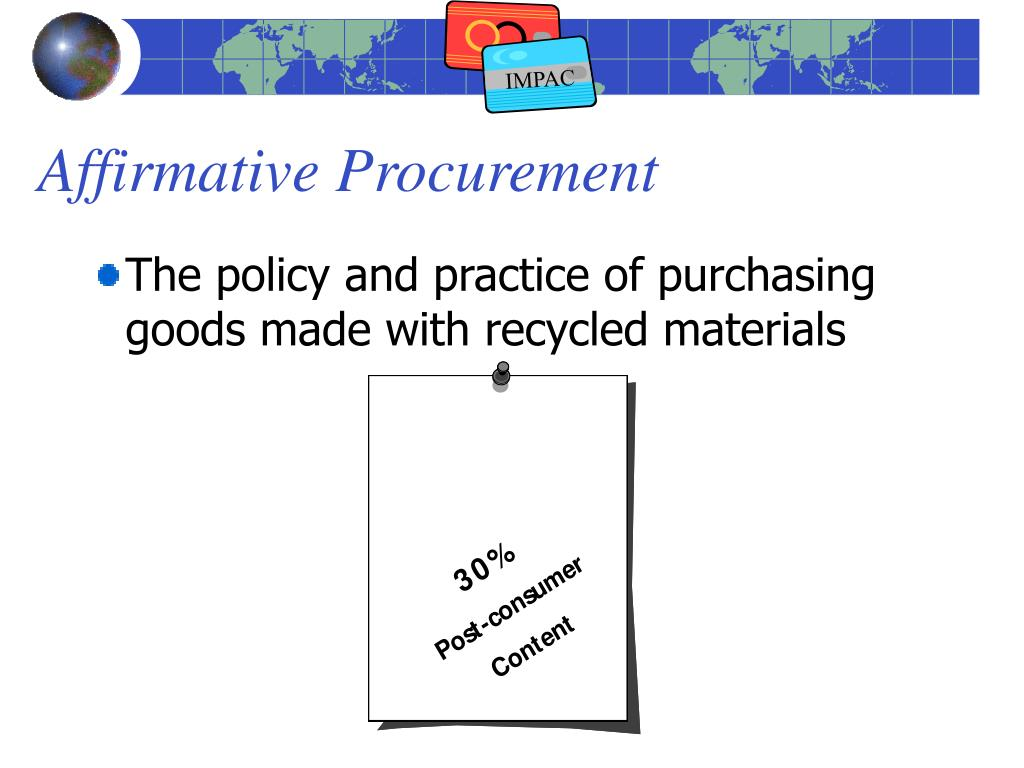 Affirmative Procurement