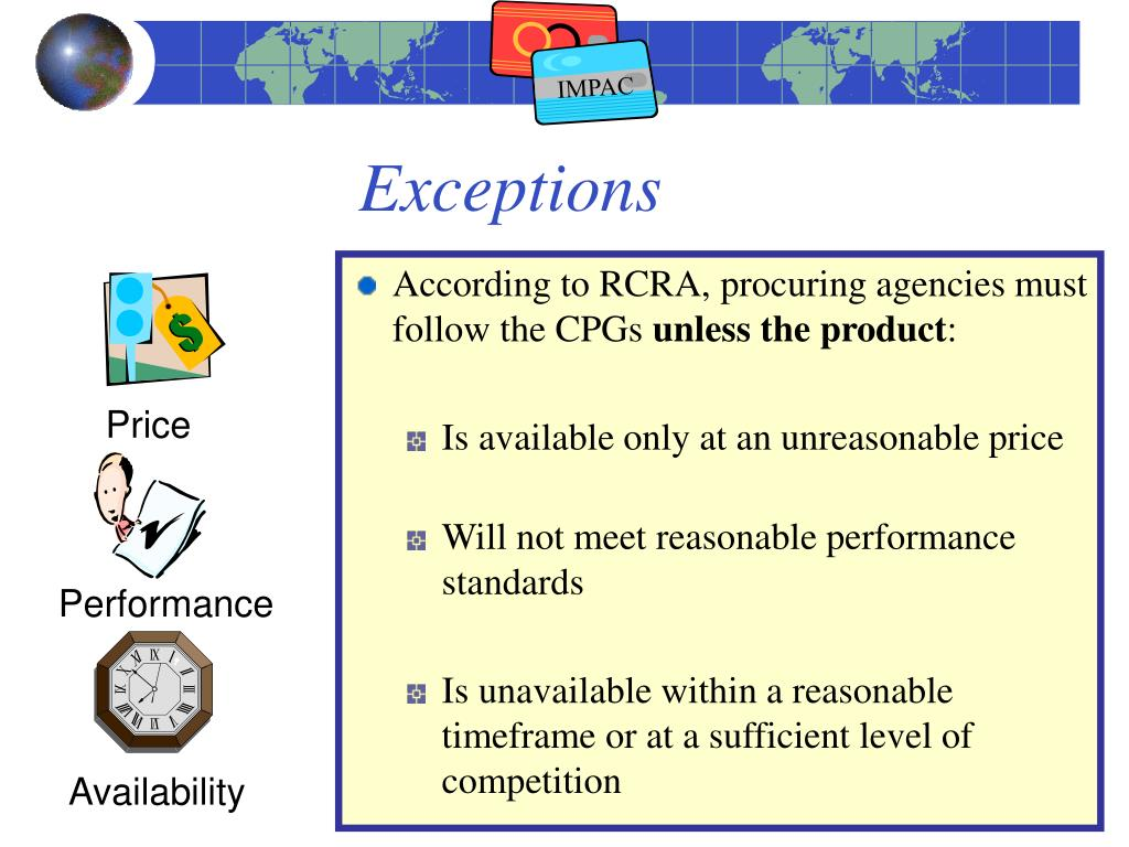 According to RCRA, procuring agencies must follow the CPGs