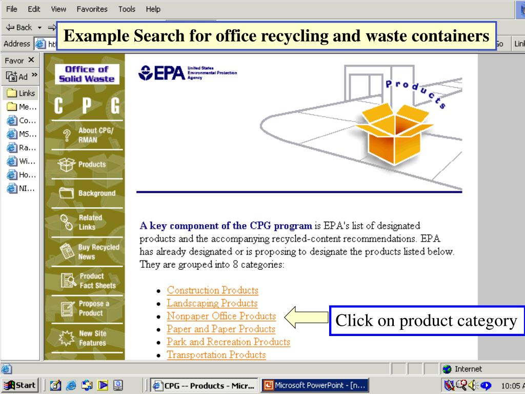 Example Search for office recycling and waste containers