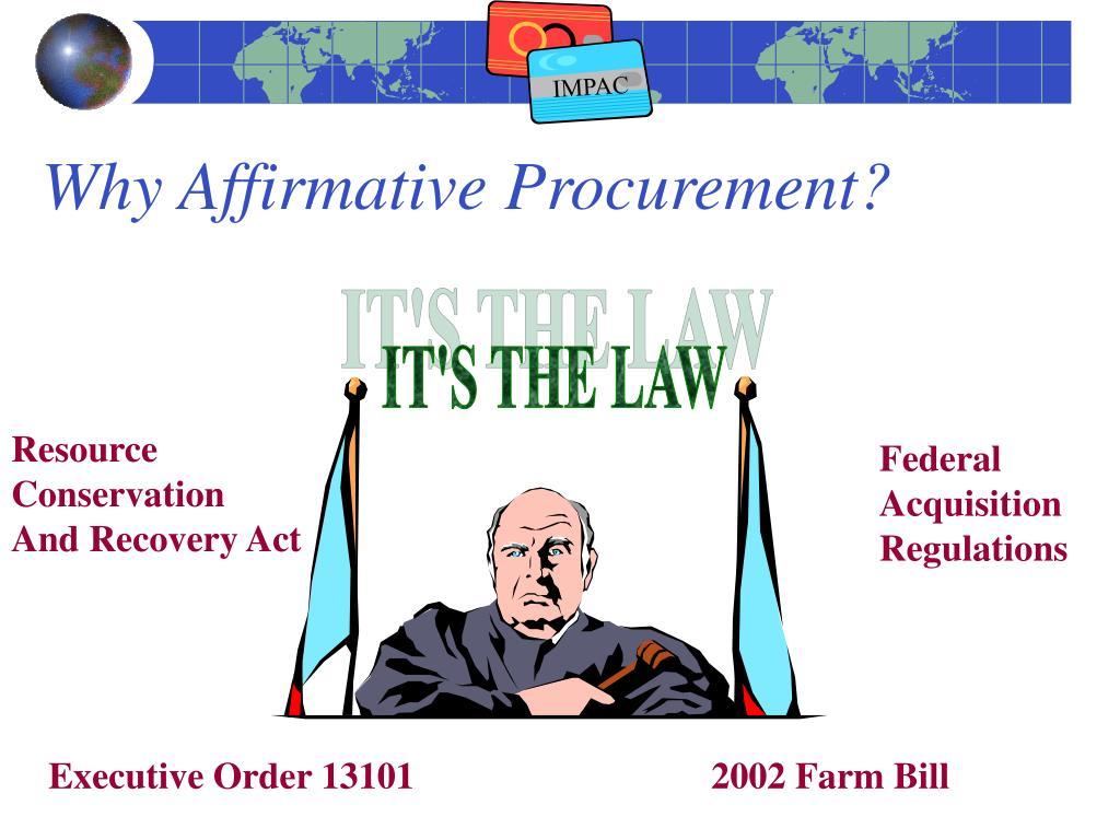 Why Affirmative Procurement?