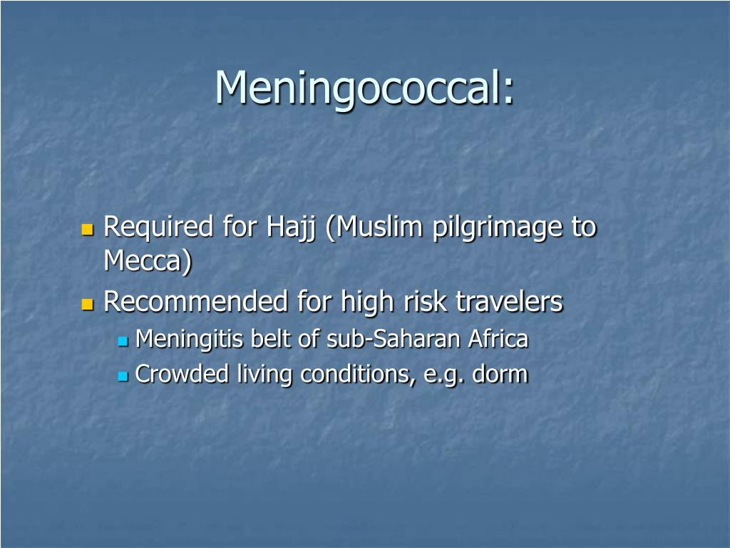Meningococcal: