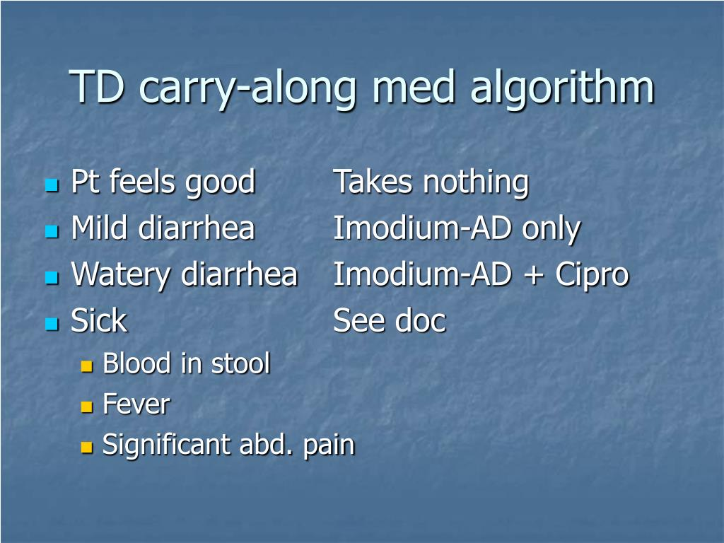 TD carry-along med algorithm
