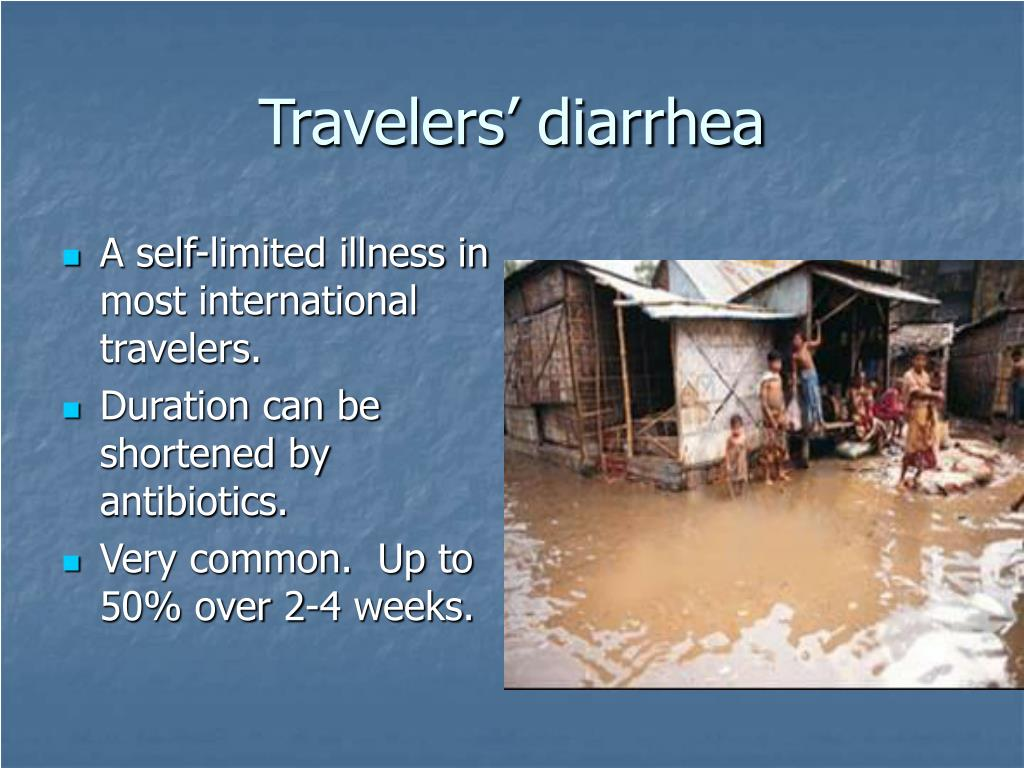 Travelers' diarrhea