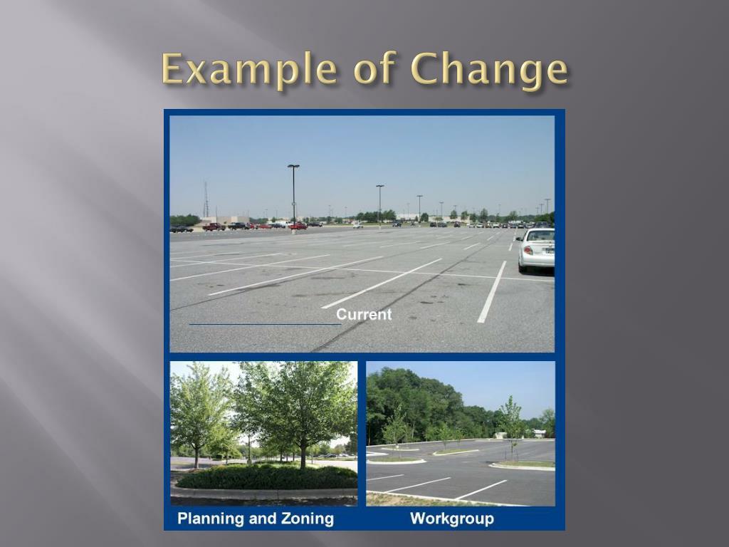Example of Change