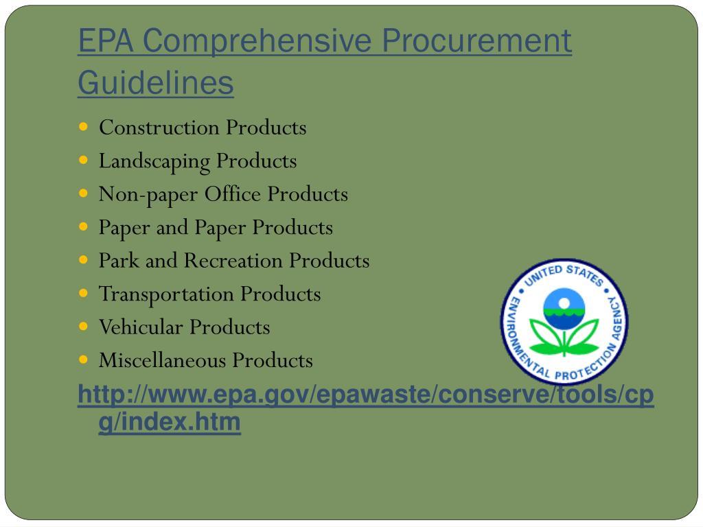 EPA Comprehensive Procurement Guidelines