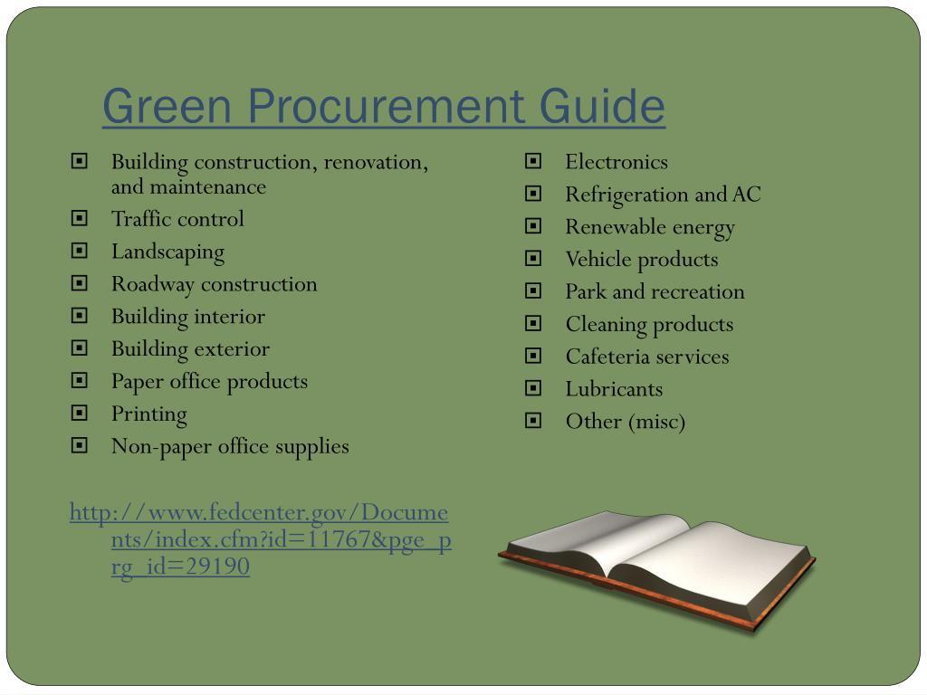 Green Procurement Guide