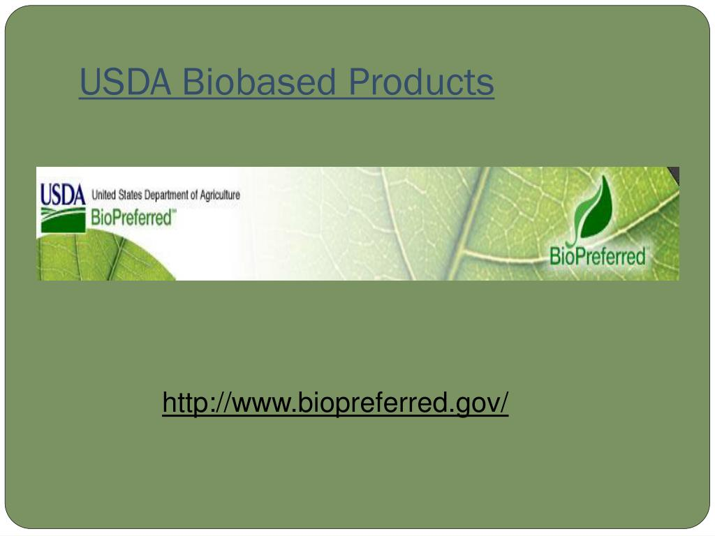 USDA Biobased Products