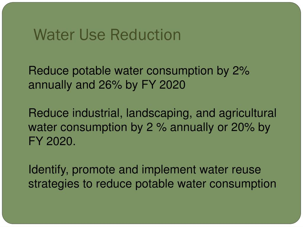Water Use Reduction
