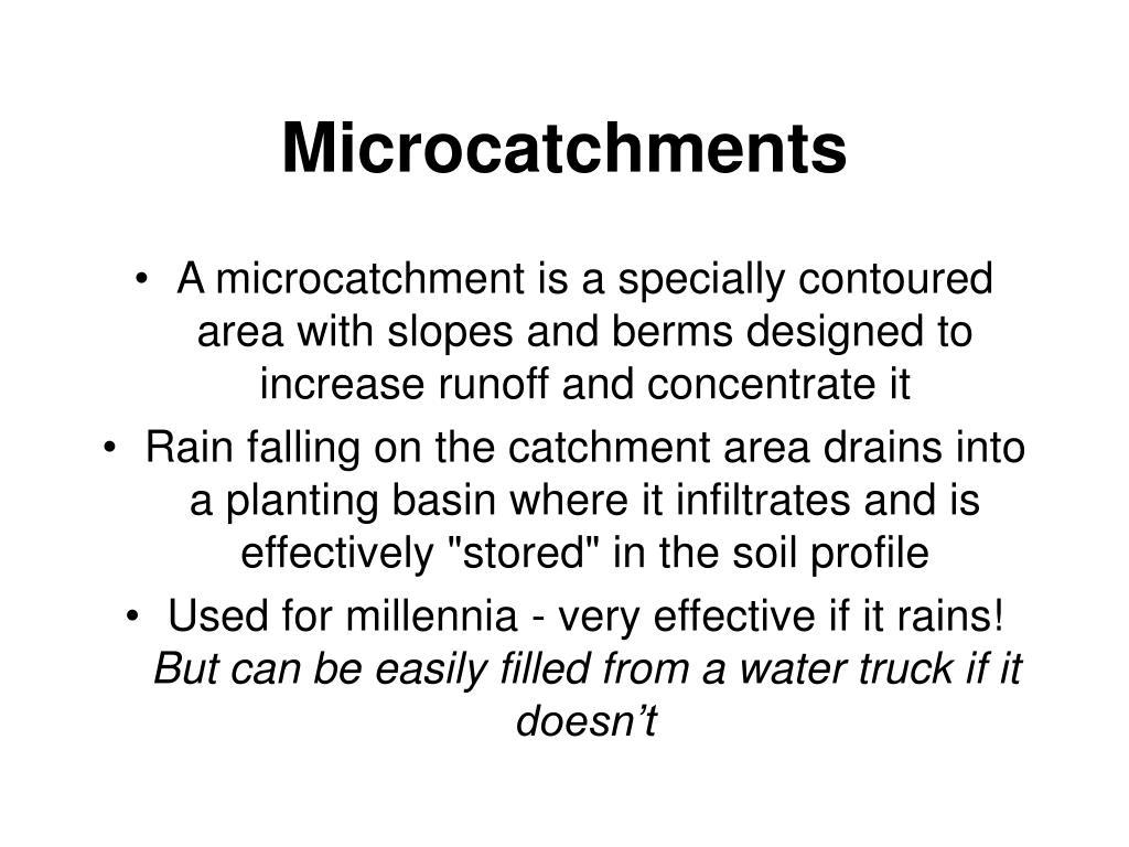 Microcatchments