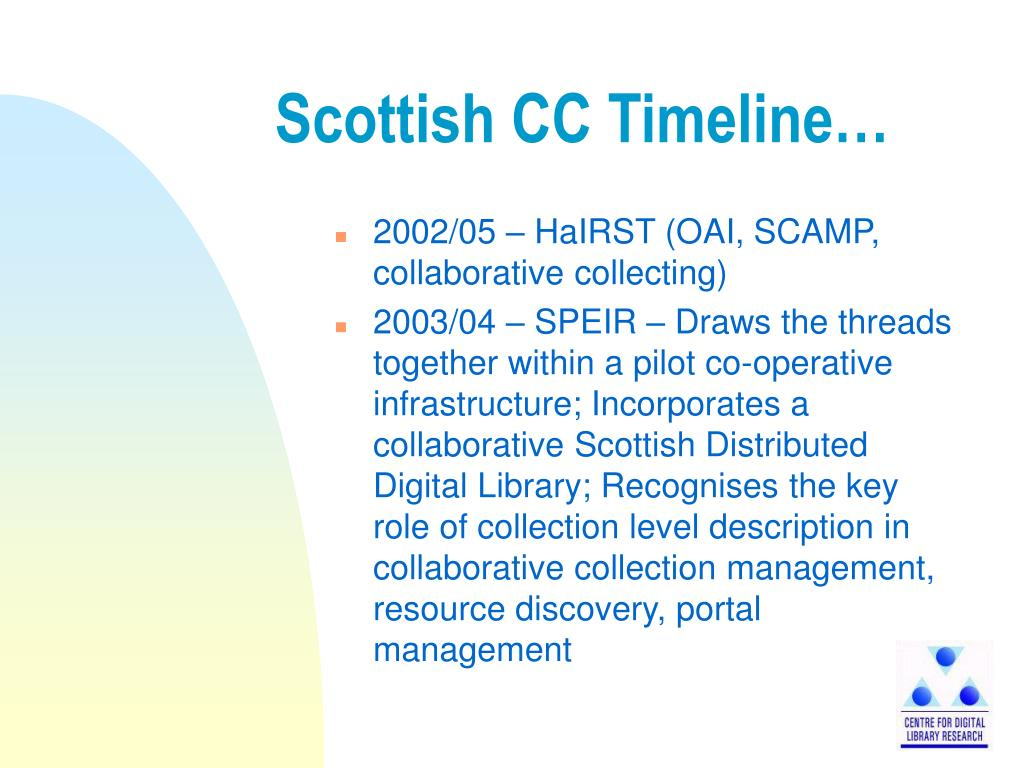 Scottish CC Timeline…