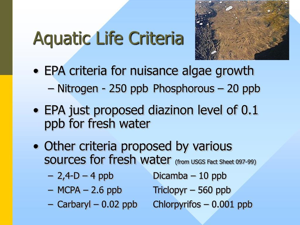 Aquatic Life Criteria