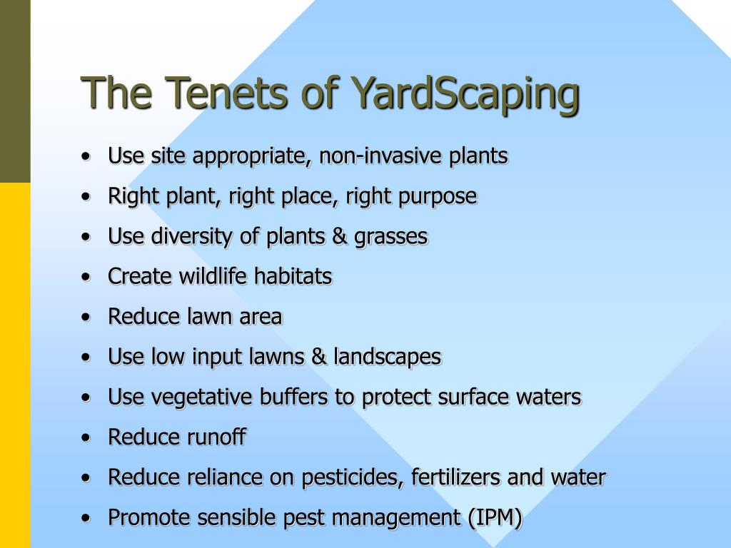 The Tenets of YardScaping
