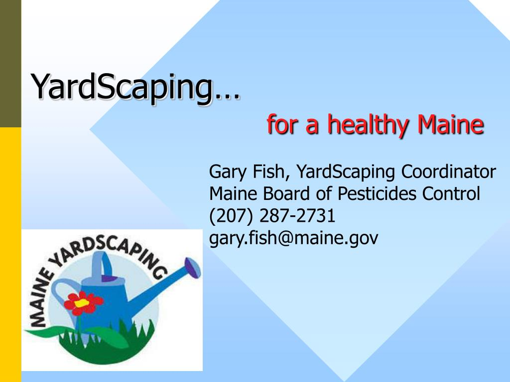 yardscaping for a healthy maine