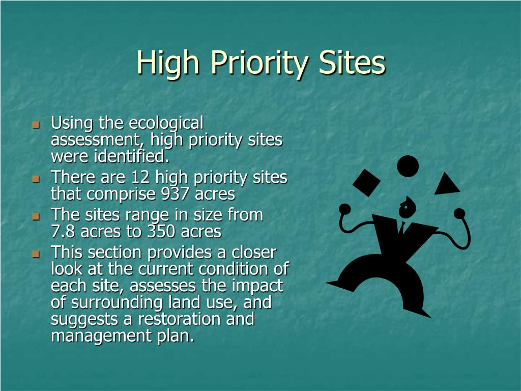High Priority Sites
