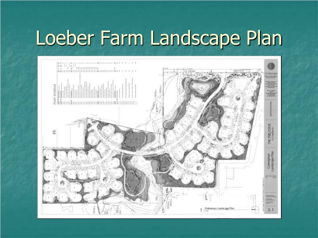 Loeber Farm Landscape Plan