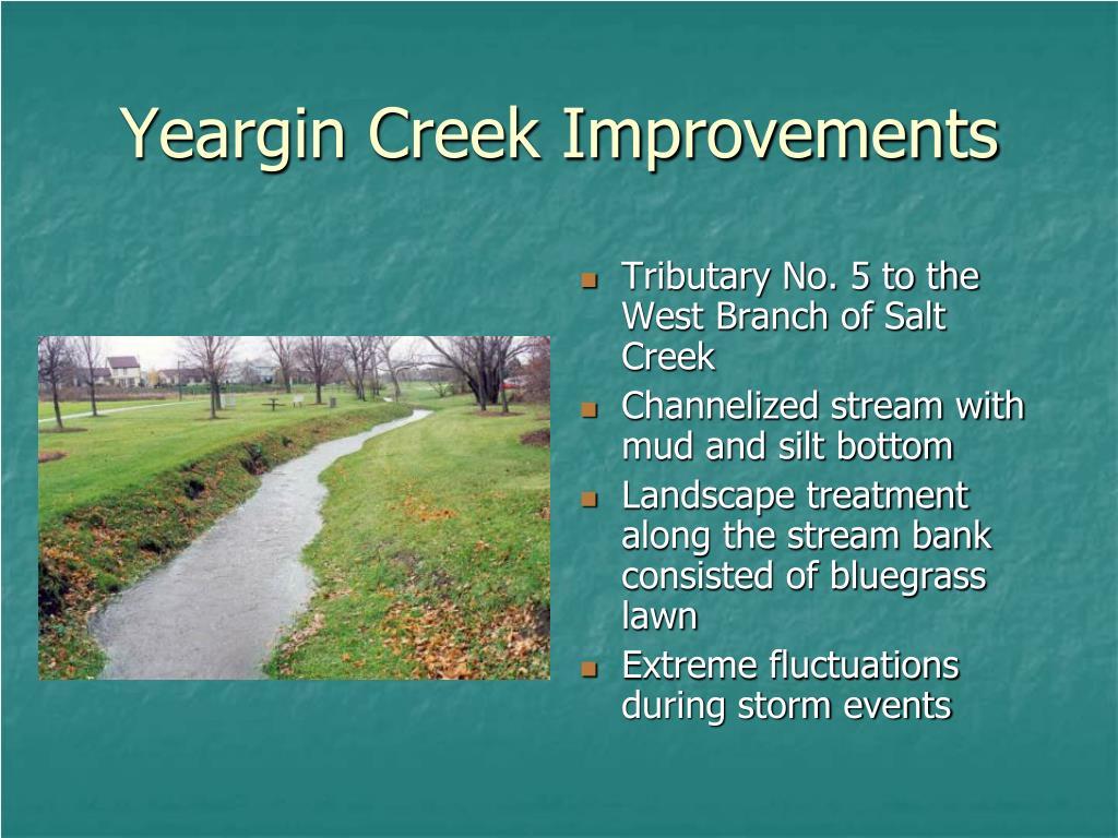 Yeargin Creek Improvements
