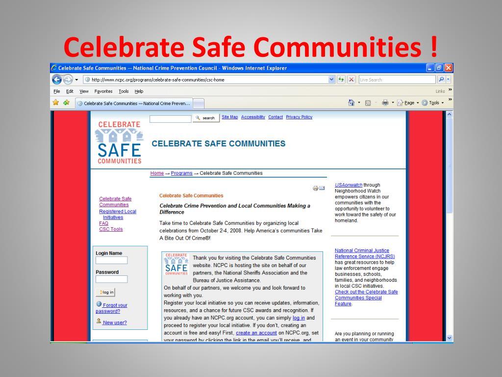 Celebrate Safe Communities !