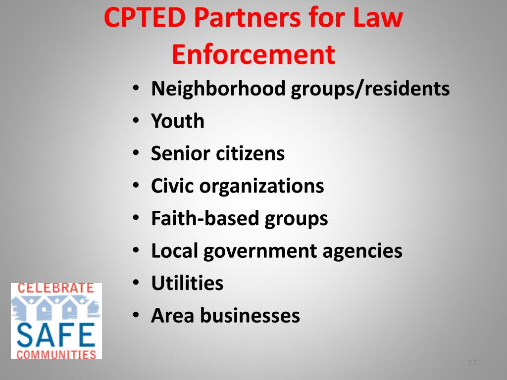 CPTED Partners for Law Enforcement