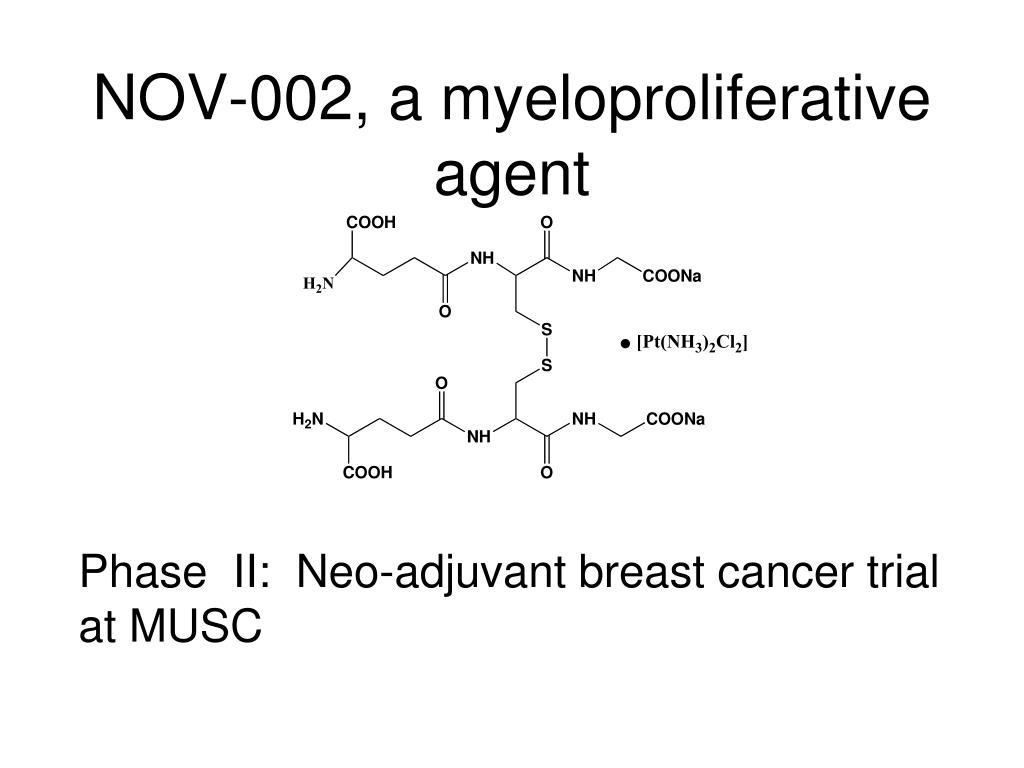 NOV-002, a myeloproliferative agent