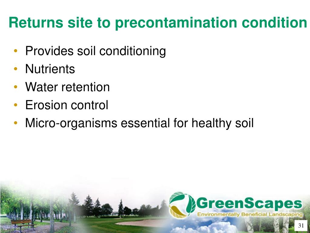 Returns site to precontamination condition
