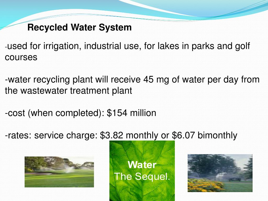 Recycled Water System