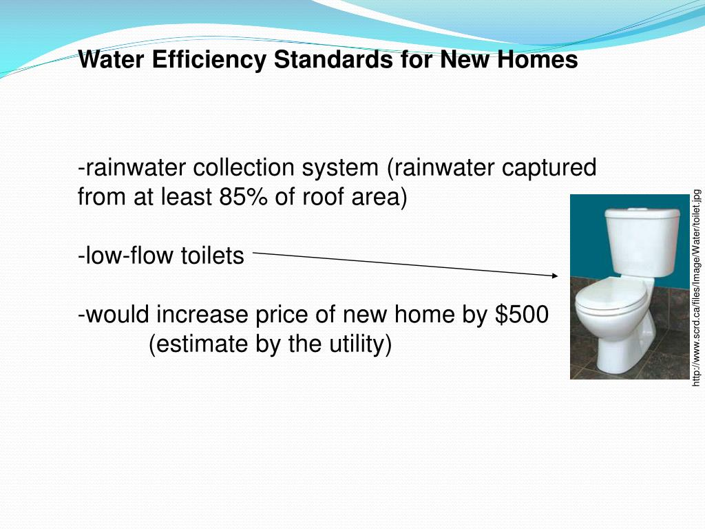 Water Efficiency Standards for New Homes