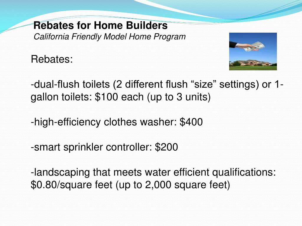 Rebates for Home Builders