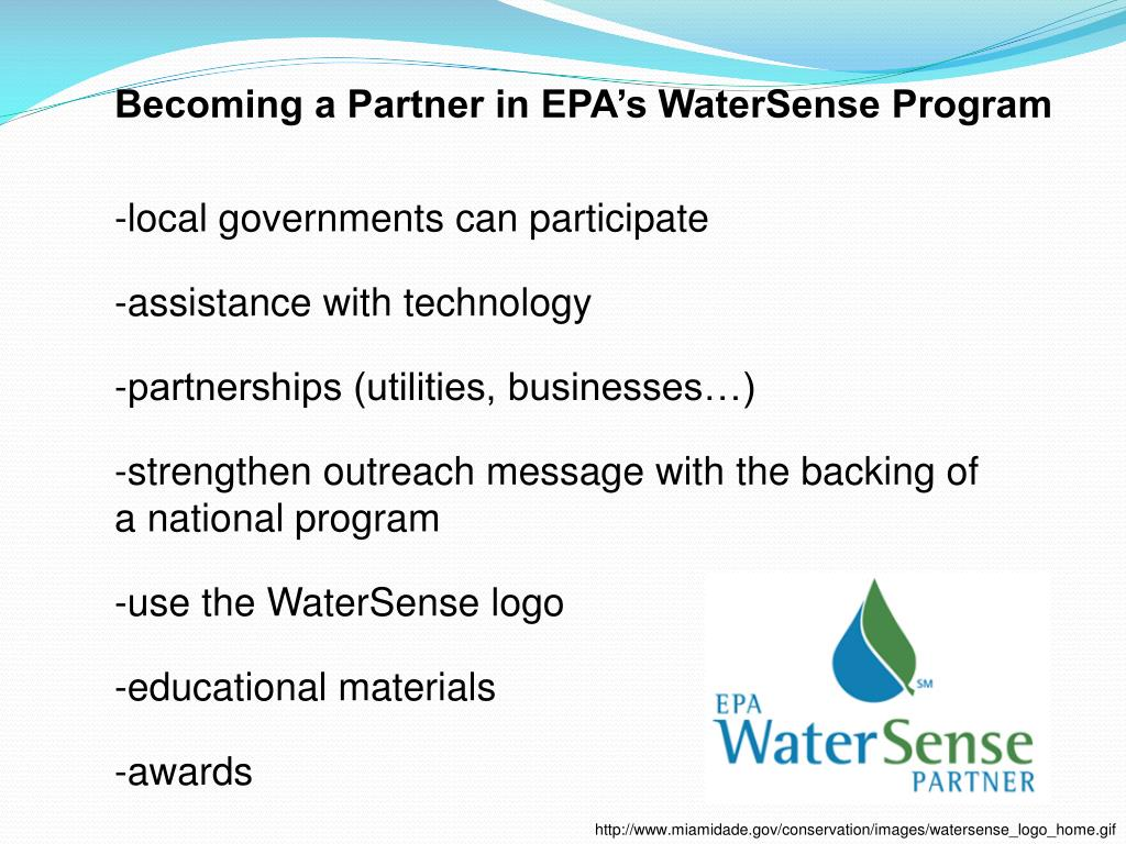 Becoming a Partner in EPA's WaterSense Program