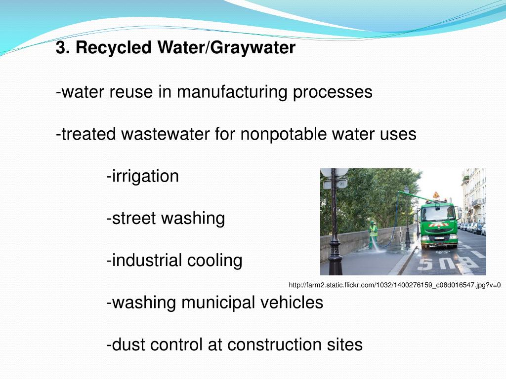 3. Recycled Water/Graywater