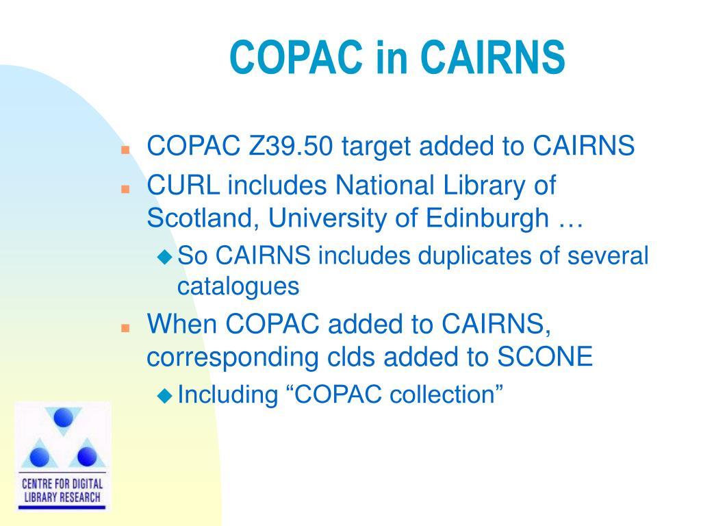 COPAC in CAIRNS