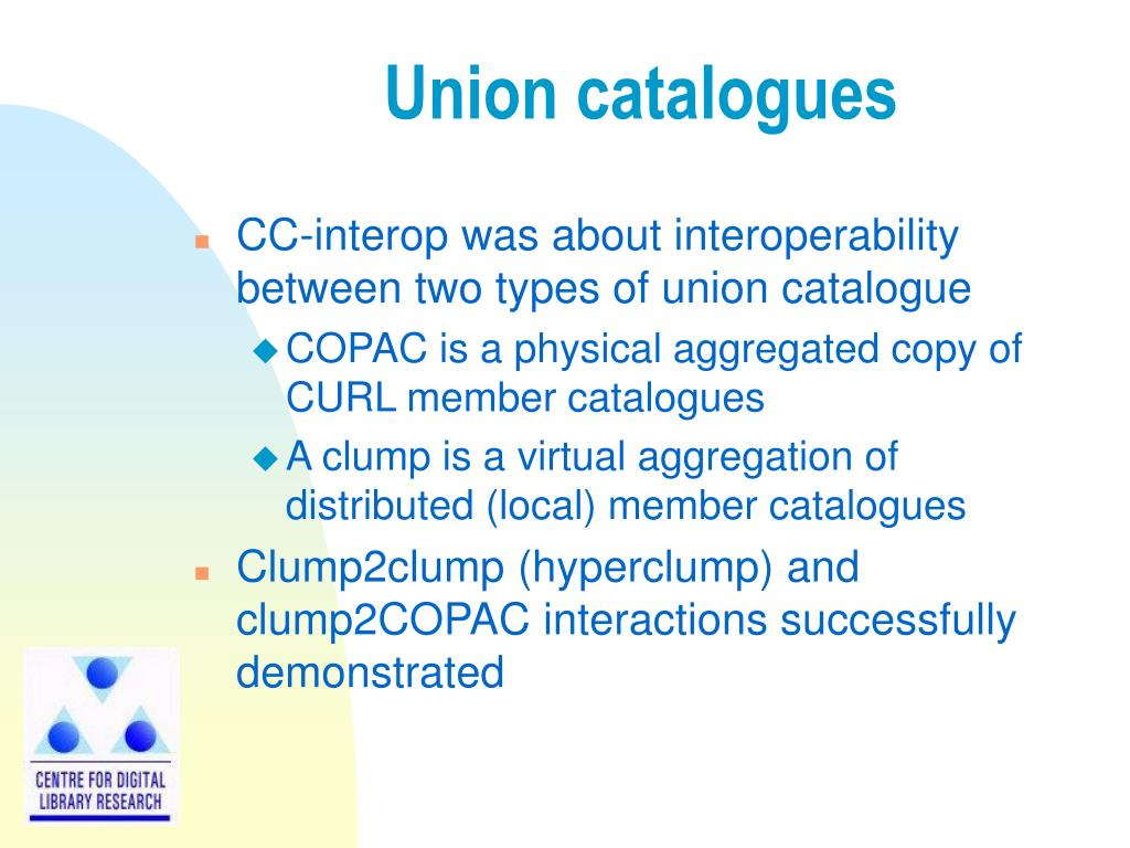 Union catalogues