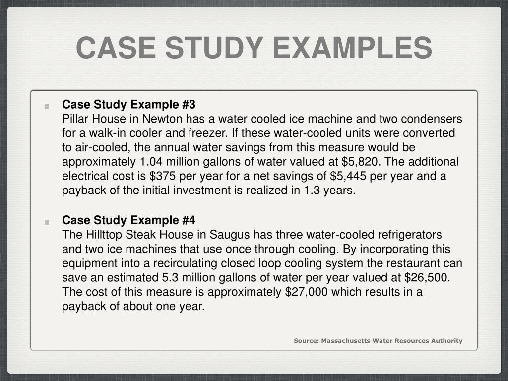 CASE STUDY EXAMPLES