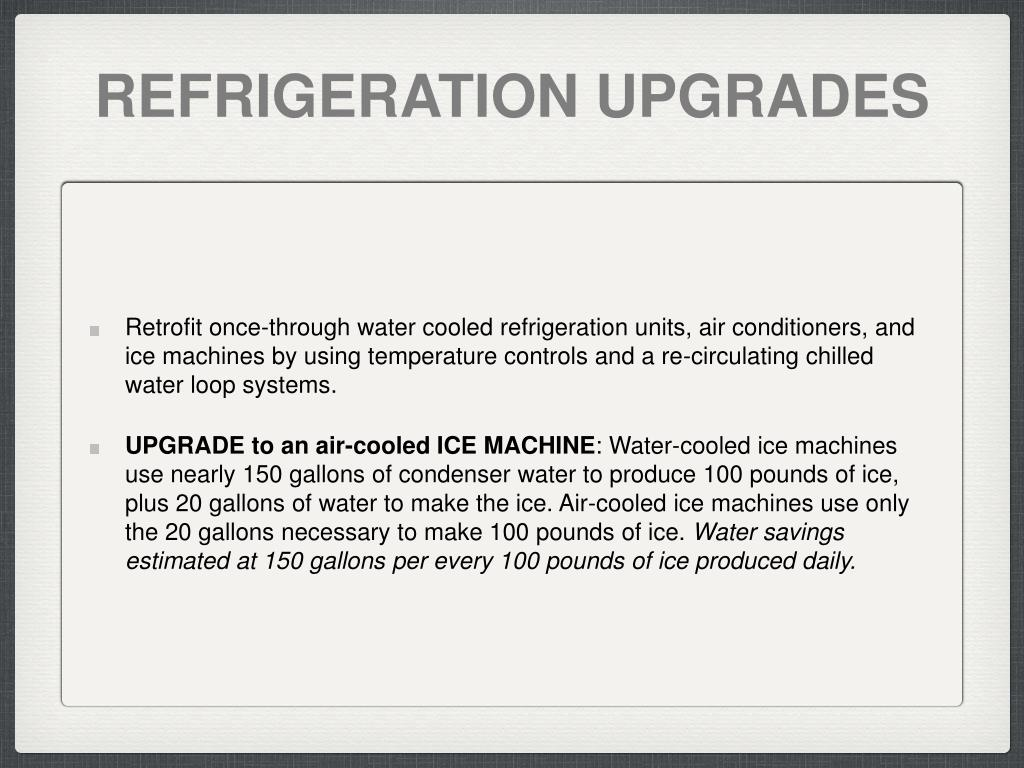 REFRIGERATION UPGRADES