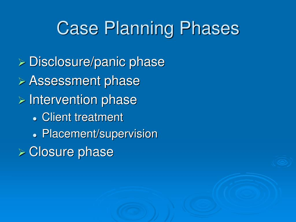 Case Planning Phases