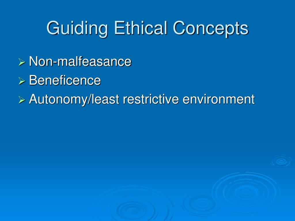 Guiding Ethical Concepts