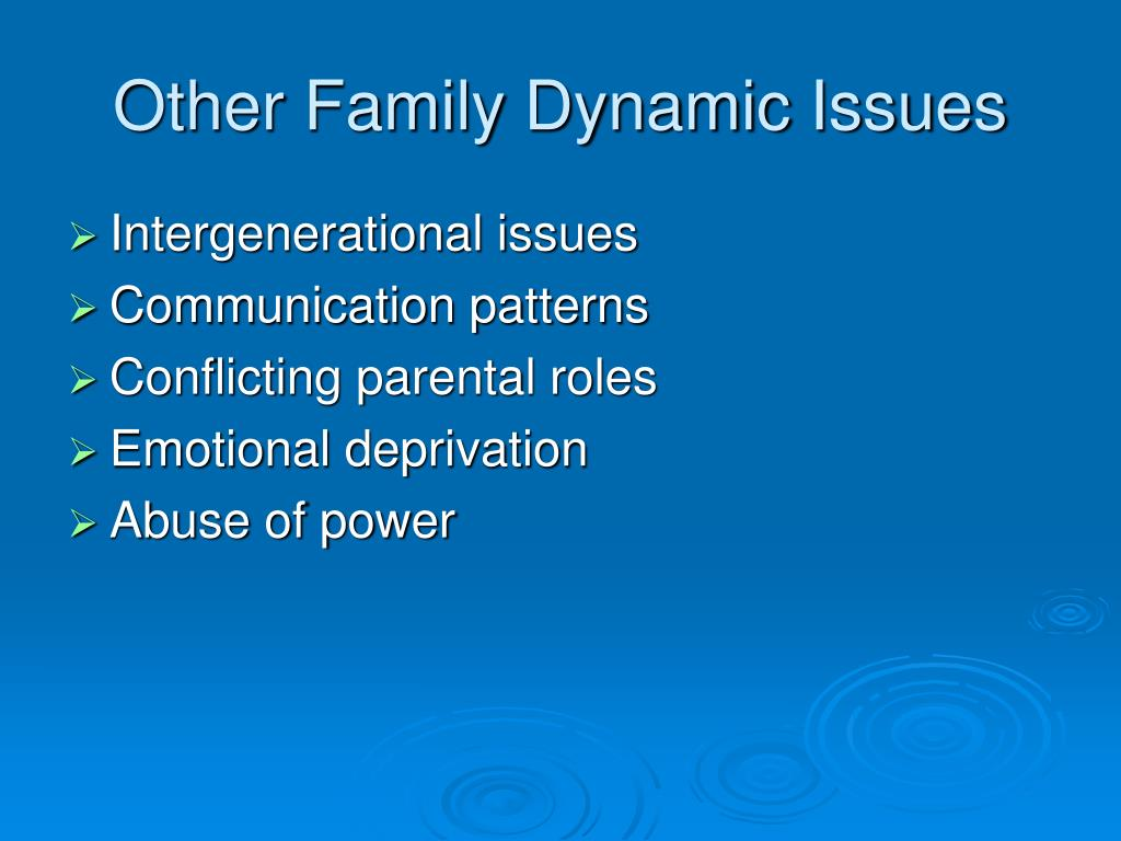 Other Family Dynamic Issues