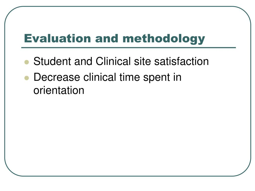 Evaluation and methodology