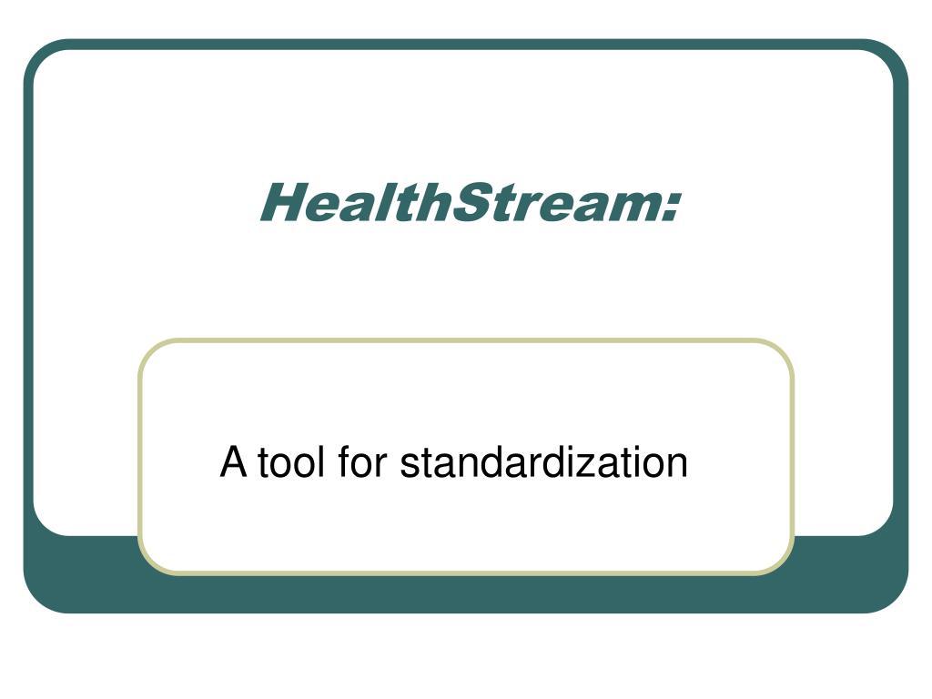 HealthStream: