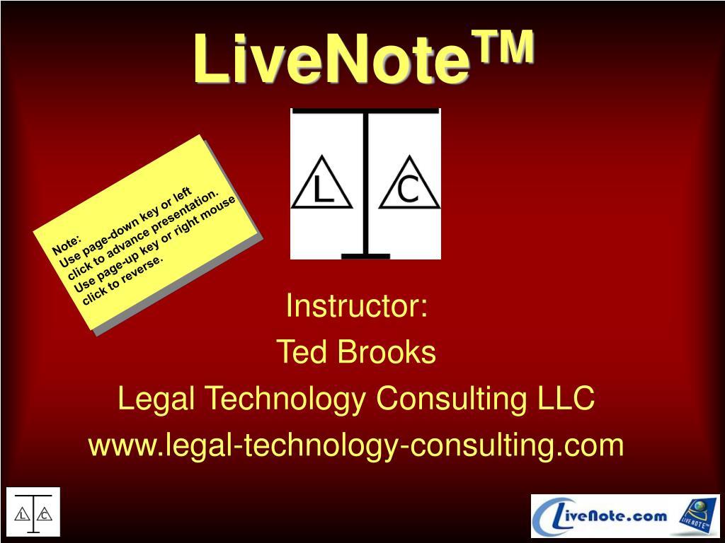 livenote tm