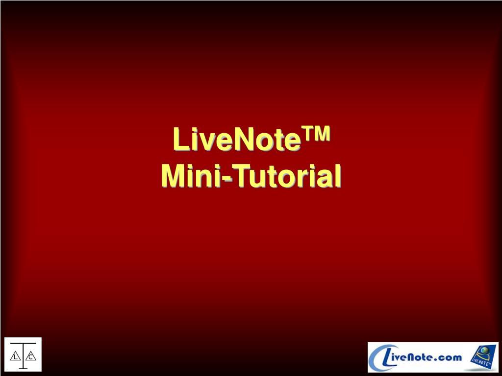 LiveNote