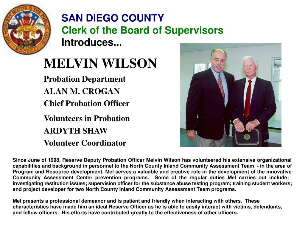 MELVIN WILSON