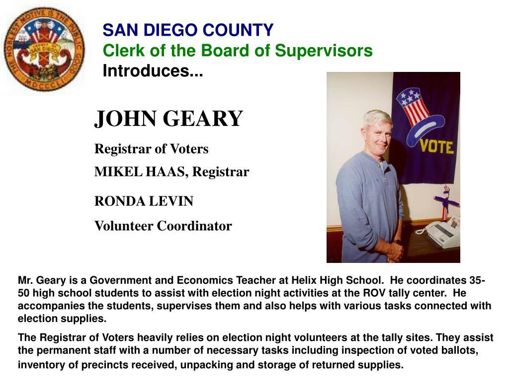 JOHN GEARY