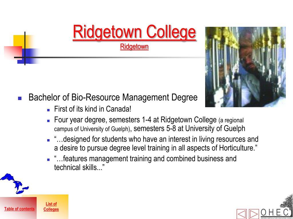 Ridgetown College